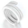 PTFE filament with PTFE dispersion and lubricant