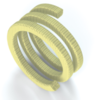 Aramid fibres, braided and with PTFE