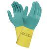 Handschoen Alpha Tec 87-900 chemische bescherming groen en geel