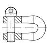 D-sluiting Roestvaststaal (RVS) A2
