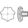 Ganter Sterngriff DIN6336-KU-63-M12-K