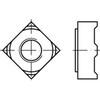 DIN928 Lasmoer vierkant Roestvaststaal (RVS) A2