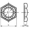 DIN7967 Zelfborgende zeskantmoer (PAL) Roestvaststaal (RVS) A2