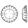 DIN6798 Fächerscheibe versenkbar mit geschlossener Außenverzahnung Federstahl