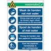 Pictogram COVID-19 Washing hands instruction (Dutch version)