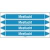 Leidingmerker - MEETLUCHT - 250x26mm wit op blauw - 4st/kaart