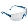 Schutzbrille Op-Tema, Blauer Rahmen, abriebbeständige PC Sichtscheibe Klar