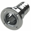 Hose coupling AISI 316 with nut flange type SHFF DIN 11864-2 NF with O-ring groove, Form A; size according to DIN R2