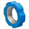 Wartelmoer RVS DIN11851 voorzien van rubberen beschermrand