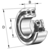 Double row angular contact ball bearing series 3200