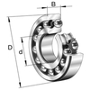 Double row self-aligning ball bearing with tapered bore 1204-K-TVH-C3
