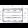 Roulement linéaire modèle fermé auto-alignement LBCD 12 A