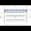 Roulement linéaire modèle ouvert LBCT 40 A