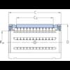 Roulement linéaire modèle ouvert joint double lèvre LBCT 60 A-2LS