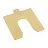 Peel-off shims hard brass or stainless steel