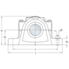 Two bolt hole split plummer block housing cast iron SE 508-607 VU