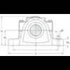 Two bolt hole split plummer block housing cast iron SE 507-606