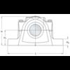 Split plummer block housing without bolt holes spheroidal graphite cast iron SSED 213