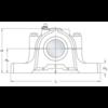Split plummer block housing without bolt holes spheroidal graphite cast iron SSNLD 216