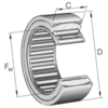 Aligning needle roller bearing without inner ring series RPNA