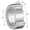 Aligning needle roller bearing with inner ring series PNA