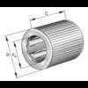 Vrijloopkoppeling met klemrollen ongelagerd serie HF..-R