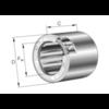 Vrijloopkoppeling met klemrollen ongelagerd serie HF
