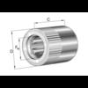Vrijloopkoppeling met klemrollen gelagerd HFL0615-R-L564
