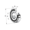 Single row spherical roller bearing with tapered bore