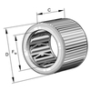 Drawn cup roller clutch without bearing series HF..-KF-R