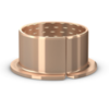 Wrapped bronze flanged bushing requiring low-maintenance series PRMF