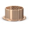 Coussinet cylindrique bronze roulé avec collerette à entretien réduit série PRMF