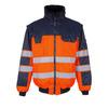 Hi-Vis pilotjack Livigno oranje/marineblauw maat L