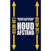 NL : COVID-19 mat afstand respecteren, blauw washable 85x150cm