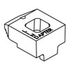 Clamp B long, malleable cast iron zinc plated