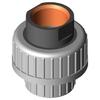 Verschraubung 3-teilig Typ 354 PVC-C/Edelstahl