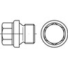 DIN910 Screw plug with collar and hex head metric fine Stainless steel A4