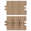 Kunststof scharnierbandketting recht lopend Flat top serie 820 - 820P - 831