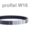 Variable speed belt profile ISO - W16