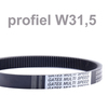 Variable speed belt profile ISO - W31.5
