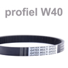 Variable speed belt profile ISO - W40