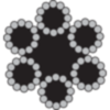 Staalkabel verzinkt 6x12-3mm