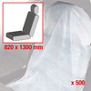 Single-use seat cover, white