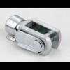 DIN71752 Stelgaffel met verende pen type ES staal elektrolytisch verzinkt