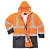 Hi-Vis executive jacket type S768 5-in-1 orange/navy blue size S