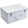 Plaatstalen koffer met handgreep kleur wit