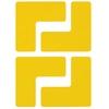 L-vormige hoekstukken, geel, gestanst