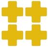 Kruisstukken geel, gestanst