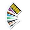 Beschrijfbare merker geel 75x16mm - voor leidingen 10st/kaart