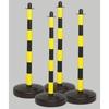 Ständer PE gelb/schwarz  90 cm